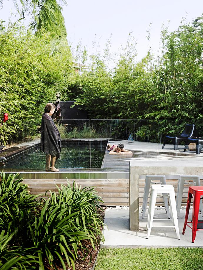 Sydney architect Eva-Marie Prineas designed this tiled-concrete pool as part of a whole-home project. It was constructed by Focusbuild.