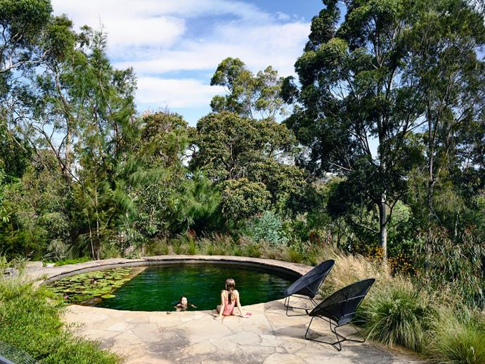 Natural Swimming Pools Australia developed and built this circular pool to complement a Melbourne home designed by architects Kennedy Nolan.