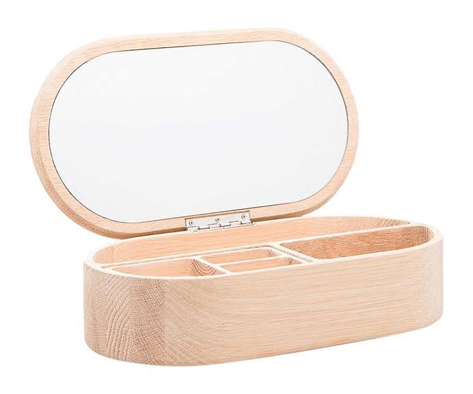 "**Jewellery storage** 'Demi' jewellery box, $149, [Country Road](https://www.countryroad.com.au/|target=""_blank""|rel=""nofollow"")."