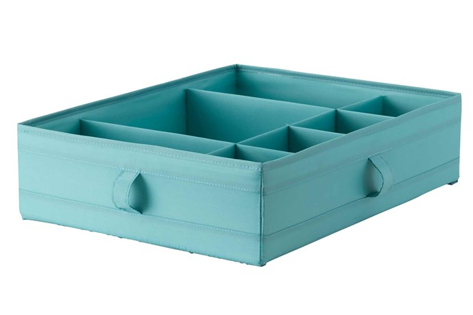 """**Compartment storage** 'Skubb' box (with compartments), $9.99, [IKEA](https://www.ikea.com/au/en/ target=""""_blank"""" rel=""""nofollow"""")."""