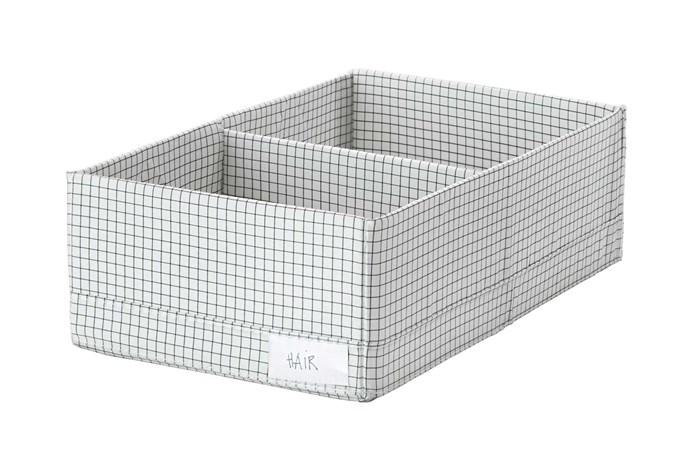 "**Compartment storage**. 'Stuk' box (with compartments), $4.99, [IKEA](https://www.ikea.com/au/en/|target=""_blank""