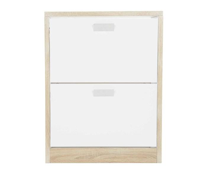 "**Hanging & Folding** Shoe cabinet, $199, [Howards Storage World](https://hsw.com.au/?site&pg_name=index target=""_blank"" rel=""nofollow"")."