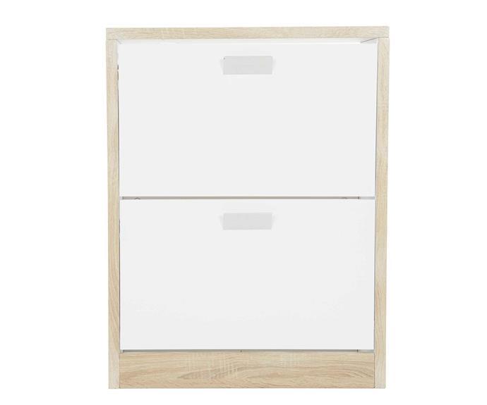 "**Hanging & Folding** Shoe cabinet, $199, [Howards Storage World](https://hsw.com.au/?site&pg_name=index|target=""_blank""|rel=""nofollow"")."