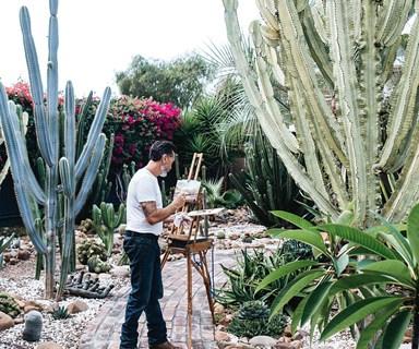 An artist's outdoor succulent garden hidden in the Hunter Valley