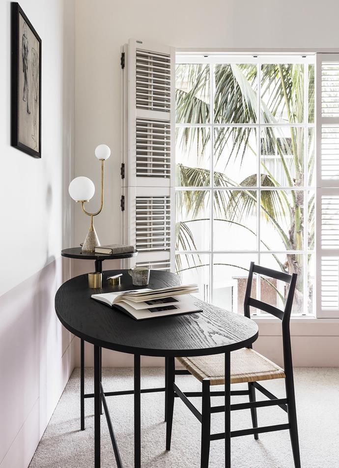 "This [re-configured Victorian-era home](https://www.homestolove.com.au/contemporary-update-for-a-sydney-heritage-home-19571|target=""_blank"") boasts a delicate, slightly feminine study courtesy of architect Jeremy Bull of Alexander & Co. *Photograph*: Tom Ferguson 
