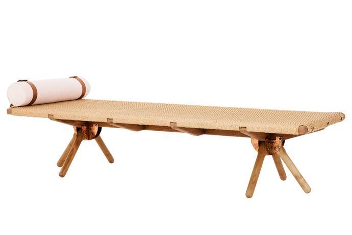 "'Omni' day bed, $2499, [Eco Outdoor](https://www.ecooutdoor.com.au/|target=""_blank""|rel=""nofollow"")."