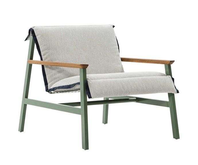 "'Mac' armchair, $2764, [Jardan](https://www.jardan.com.au/|target=""_blank""|rel=""nofollow"")."
