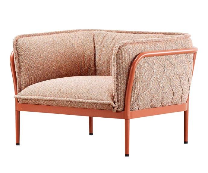 "'Trace' armchair, $4357, [Tait](https://madebytait.com.au/|target=""_blank""|rel=""nofollow"")."