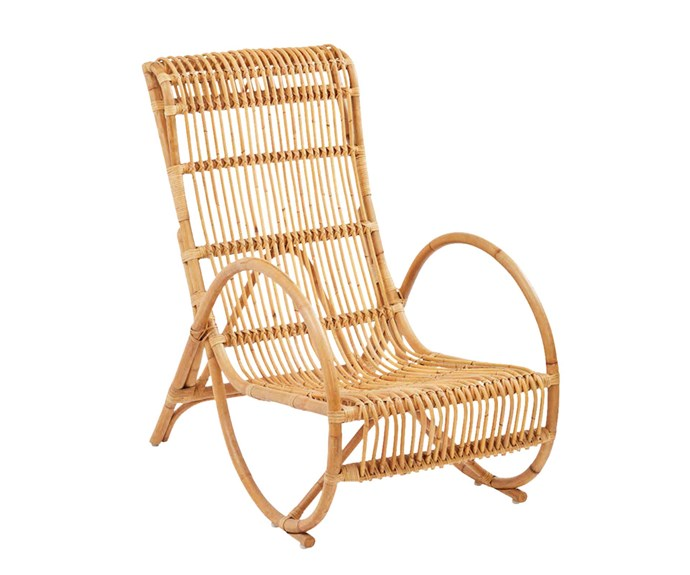 """The Home Collective 'Mantra' lounge chair, $579, [Temple & Webster](https://www.templeandwebster.com.au/
