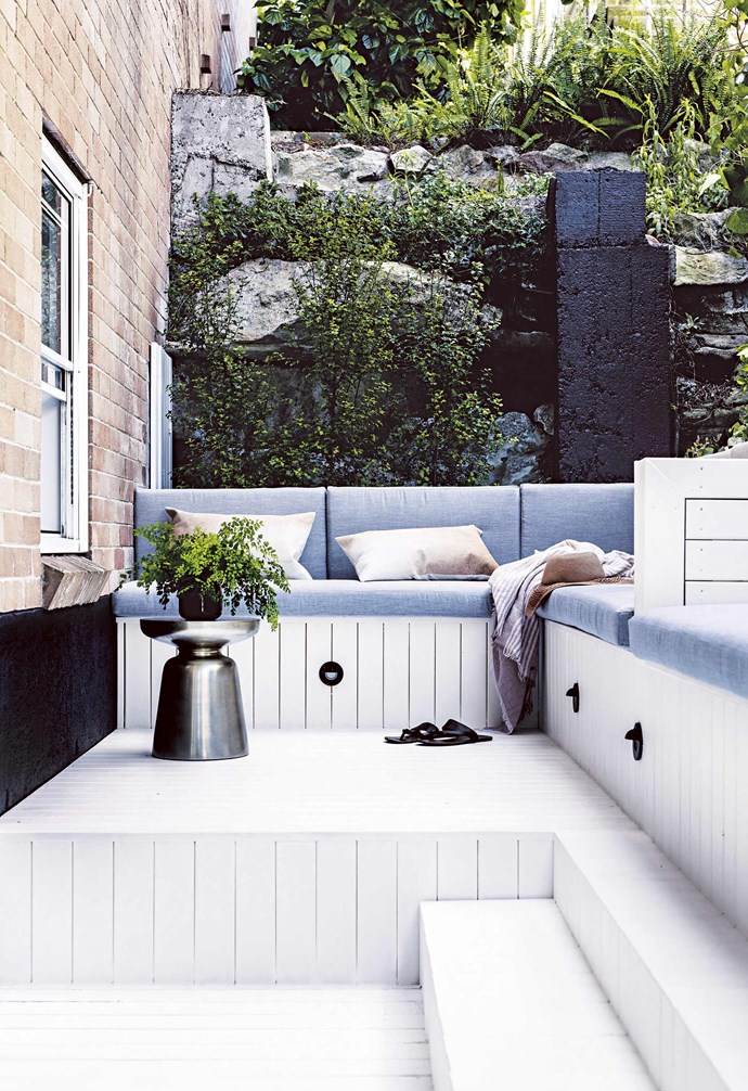 """**Rock and roll** A designer will help you untap the potential of a tricky space and turn it into your hosting hotspot. Cushions, [St Agni](https://www.st-agni.com/