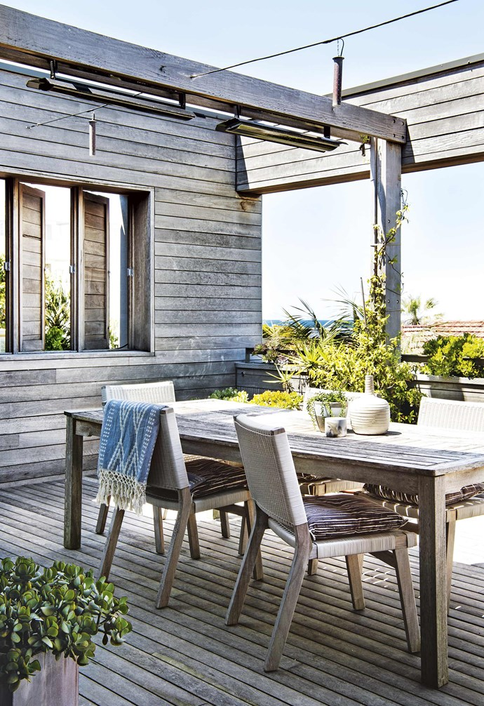 """**Natural age** The spotted gum develops a lovely silver-y colour as it ages, creating a weathered coastal look. *Build: [Join Constructions](http://joinconstructions.com.au/
