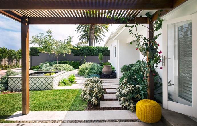 "A [1950s seaside property]((https://www.homestolove.com.au/coastal-style-garden-makes-entertaining-a-breeze-2961|target=""_blank"") has been completed by a garden  designed by Matt Leacy that salutes its coastal location and makes entertaining a breeze. *Photo*: Jason Busch."