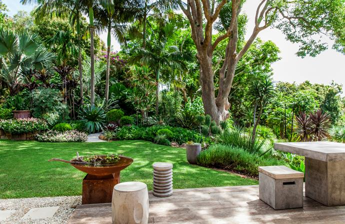 "Working with a large sloping site, landscape designer Claudia Nevell shaped this many-layered [tropical wonderland](https://www.homestolove.com.au/claudia-nevells-tropical-wonderland-2799|target=""_blank"") at her home on the NSW North Coast. *Photo*: Scott Hawkins."