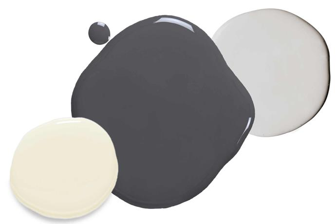 "**Shades of grey** 'Endure' paints in Cable Ash, $61.90/4L, Viking Grey, $82.90/4L, and Alpine Snow, $61.90/4L, all [Taubmans](https://www.taubmans.com.au/homeowners|target=""_blank""