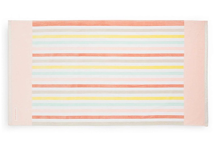 """'Trinity' kids beach towel, $49.95, [Country Road](https://www.countryroad.com.au/