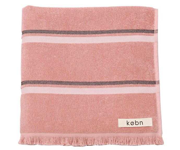 "Towel in Clay, $69.95, [Købn](https://kobn.com.au/|target=""_blank""|rel=""nofollow"")."