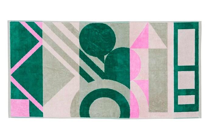 "'Palm Springs' towel, $120, [Fenton & Fenton](https://www.fentonandfenton.com.au/|target=""_blank""|rel=""nofollow"")."