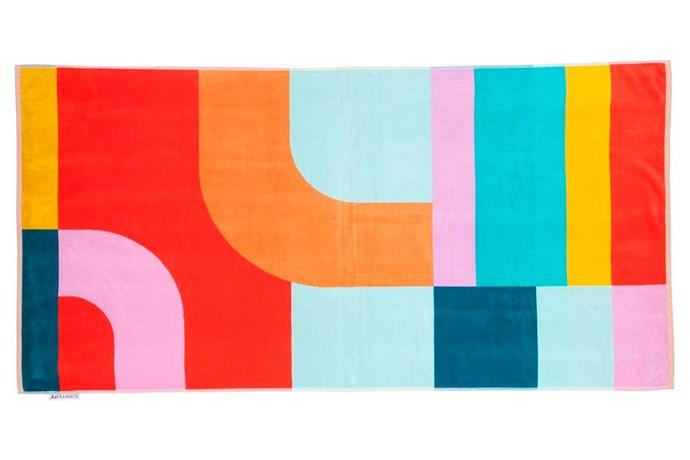 "'Islabomba' luxe towel, $69.95, [Sunnylife](https://www.sunnylife.com.au/|target=""_blank""|rel=""nofollow"")."