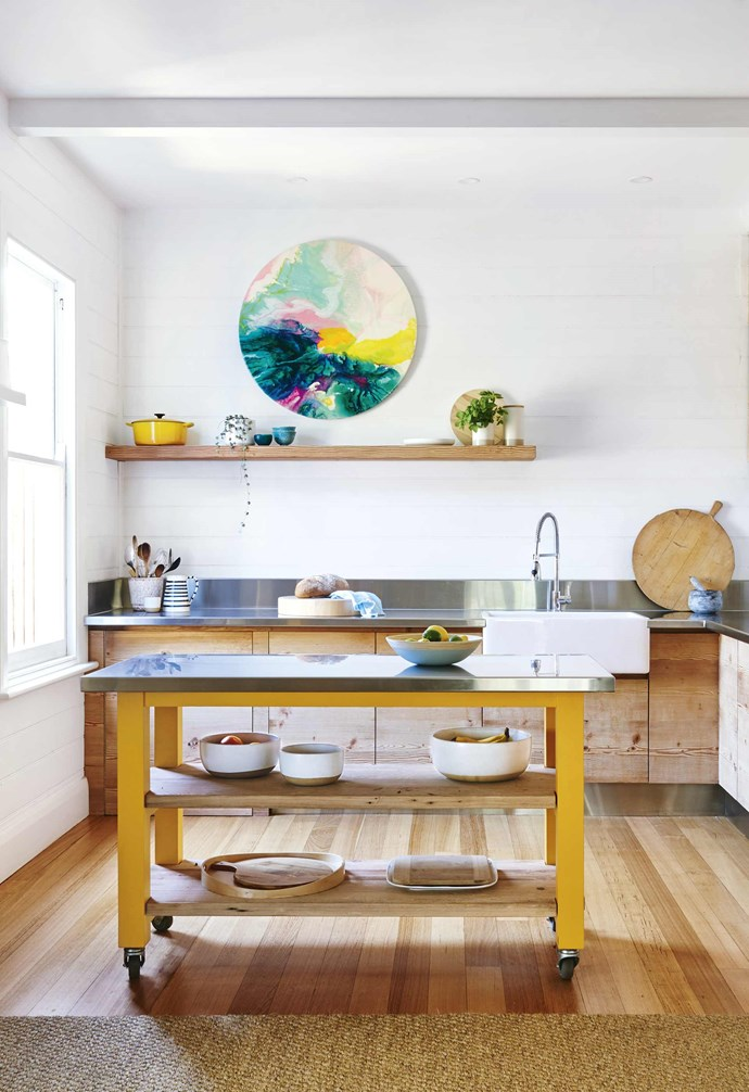 """**Did it need much work?** Yes! Inside, it was tired and a little worn out and very dark. The staircase and the timber cladding in the entrance hall were dark brown while the window frames, some of the doors and the cladding in the [dining area](https://www.homestolove.com.au/24-dining-room-ideas-18556