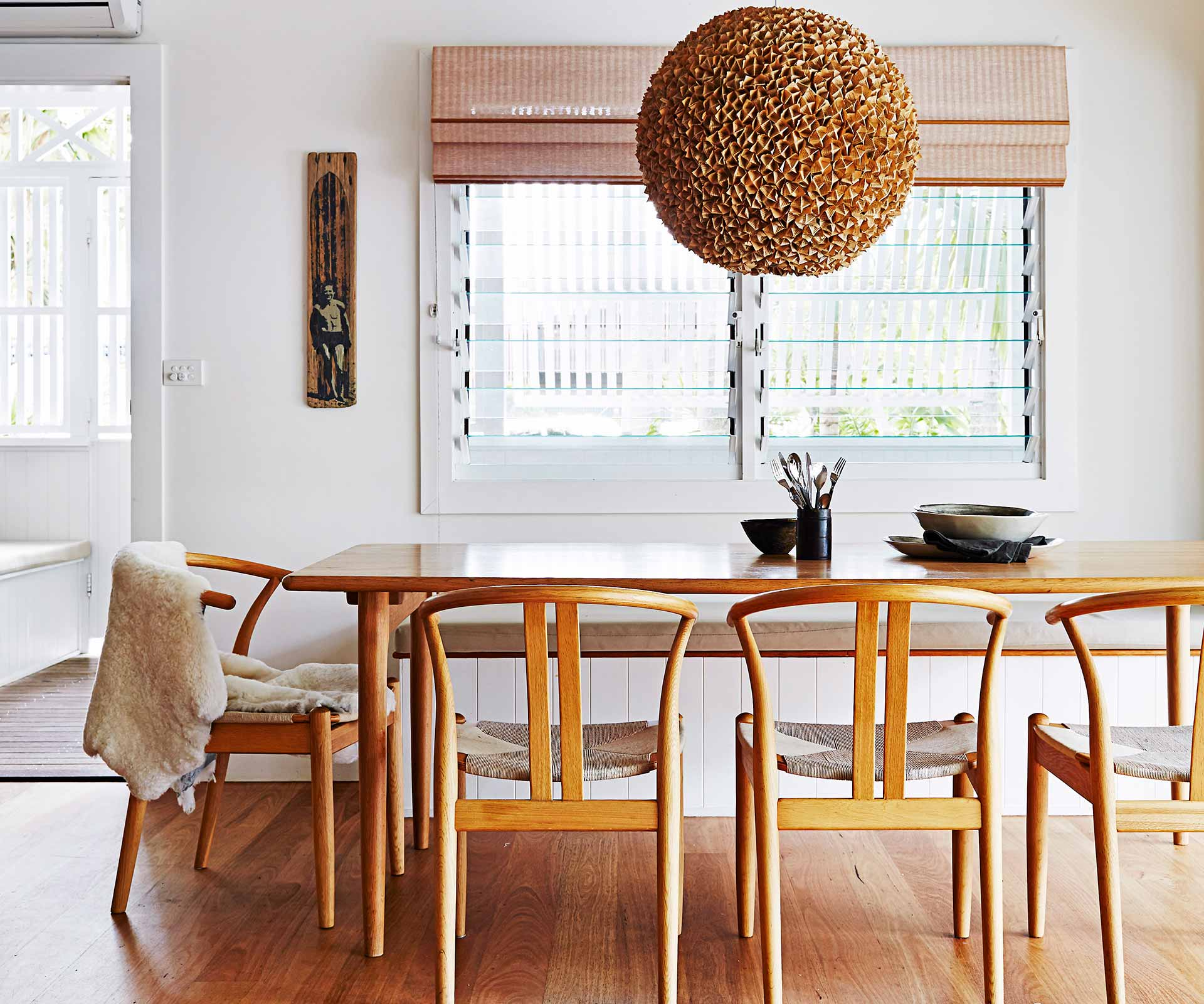 How to mix timber floors with timber furniture