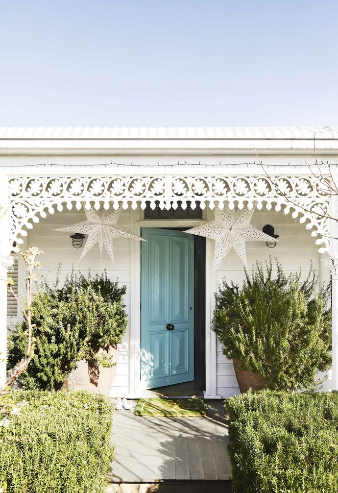 """**Kerb appeal** The bright coloured door of this [renovated miner's cottage in Geelong](https://www.homestolove.com.au/miners-cottage-renovation-geelong-18479