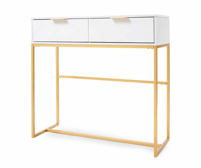 "Timeless console table, $49.00, [Kmart](https://www.kmart.com.au/|target=""_blank""
