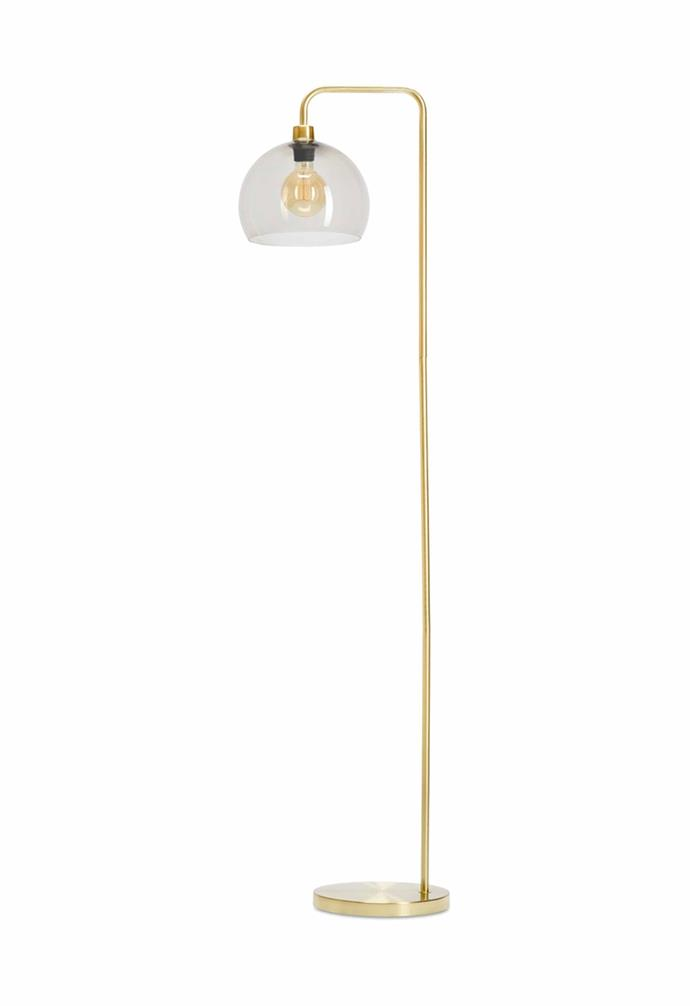 "Brass look floor lamp, $39, [Kmart](https://www.kmart.com.au/|target=""_blank""|rel=""nofollow"")."
