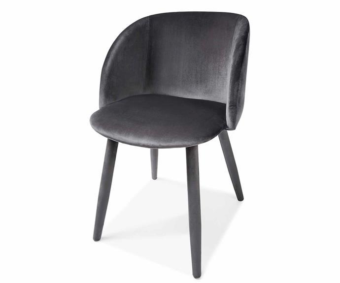 "Grey velvet occasional chair, $49.00, [Kmart](https://www.kmart.com.au/|target=""_blank""|rel=""nofollow"")."
