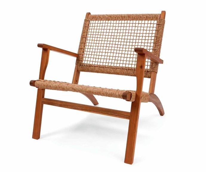 "Timber occasional chair, $49.00, [Kmart](https://www.kmart.com.au/|target=""_blank""|rel=""nofollow"")."