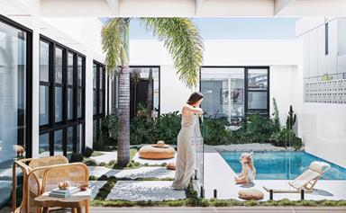 Palm Springs style meets coastal design in this Casuarina home