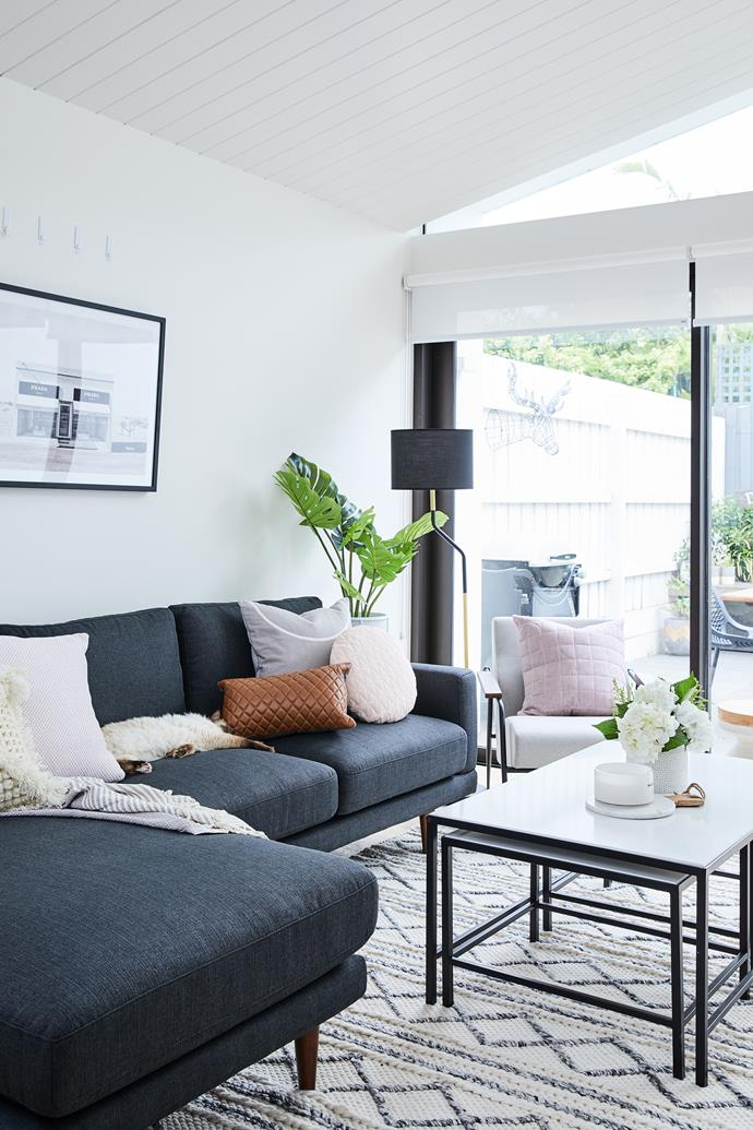 """""""We used pops of pastels with pinks and greys and hints of black to keep it feeling really modern,"""" says Fiona."""