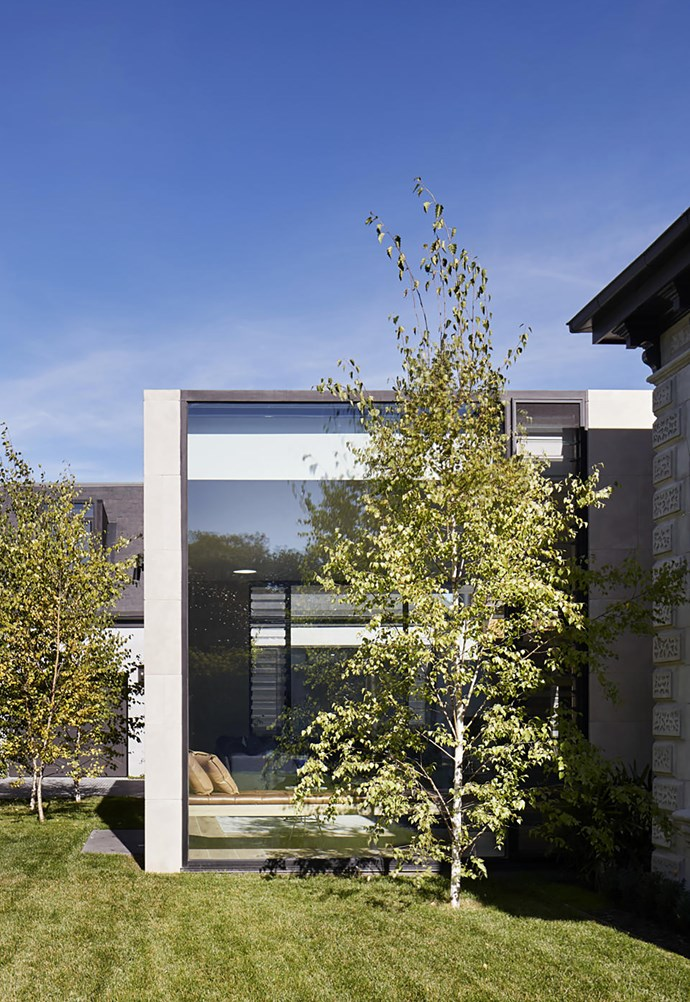 Architect Chris Rak says nature provides the meeting point for old and new in this property.