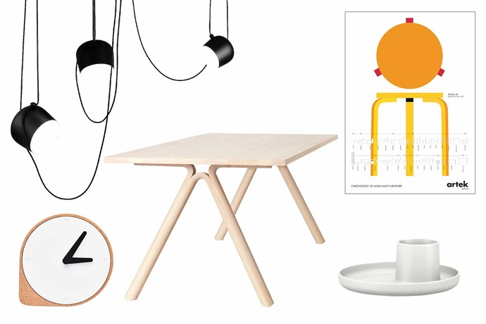 "**Extra special** The finishing touches can add so much. Choose blasts of colour, quirky shapes or organic forms. **Get the look** (clockwise from left) Flos 'Aim' suspension light, $949, [Living Edge](https://livingedge.com.au/|target=""_blank""