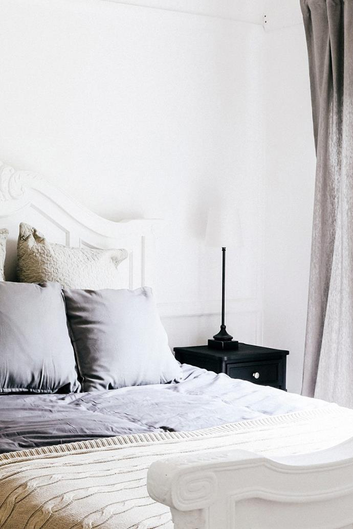 Calming neutrals reign supreme in the bedrooms.