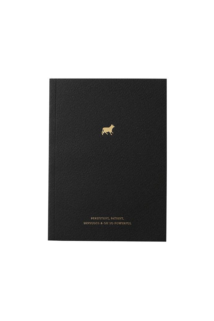 "Taurus Zodiac notebook, $15.95, [An Organised Life](https://www.anorganisedlife.com/|target=""_blank""|rel=""nofollow"")"