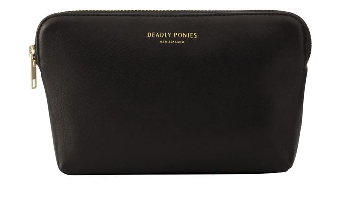 "Mr Poucher Grande pouch in Black, $159.95, [Deadly Ponies](https://deadlyponies.com/|target=""_blank""|rel=""nofollow"")"