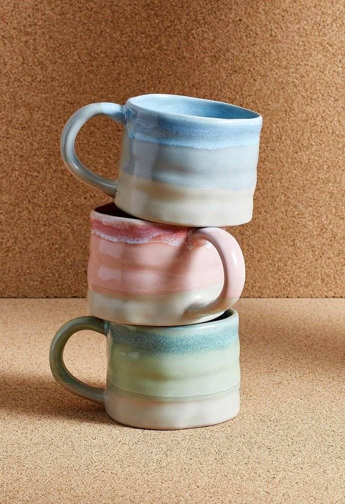 "Dipped glaze mug, $4 each, [Target](https://www.target.com.au/|target=""_blank""|rel=""nofollow"")."