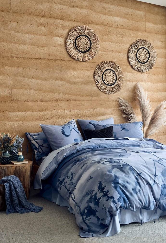 "Dulcie quilt cover set, QB $49, DB $39, KB $59, SB $35, Dulcie European pillowcase $15, Round woven rattan wall hanging, $20, [Target](https://www.target.com.au/|target=""_blank""|rel=""nofollow"")."