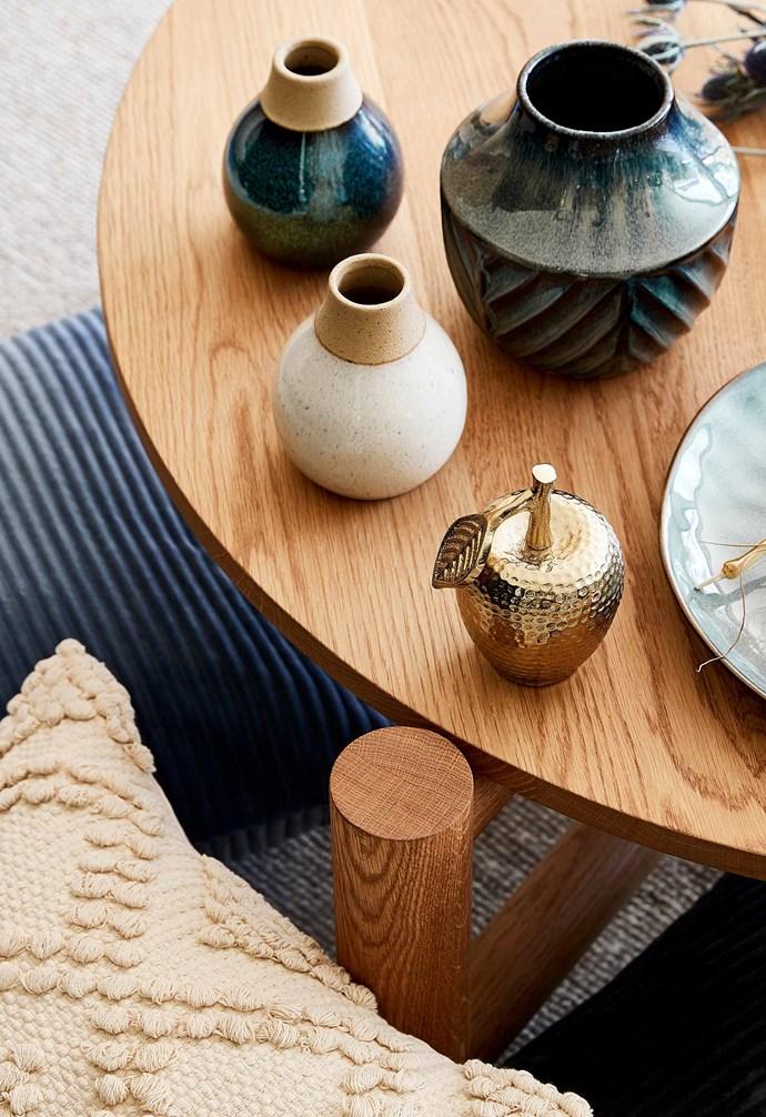 "Reactive glaze bud vase, $6, Aria ceramic vases, $10, Apple trinket, $10, Allegra cushion, $20, [Target](https://www.target.com.au/|target=""_blank""|rel=""nofollow"")."