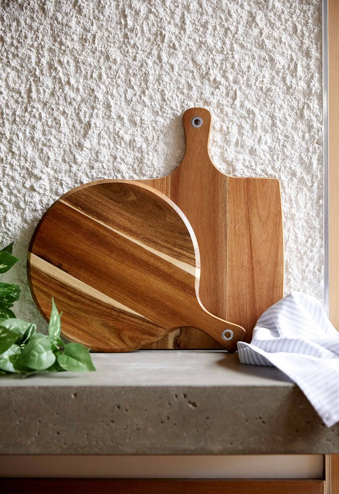 """Round acacia paddle board, $10, Square acacia paddle board, $10, [Target](https://www.target.com.au/