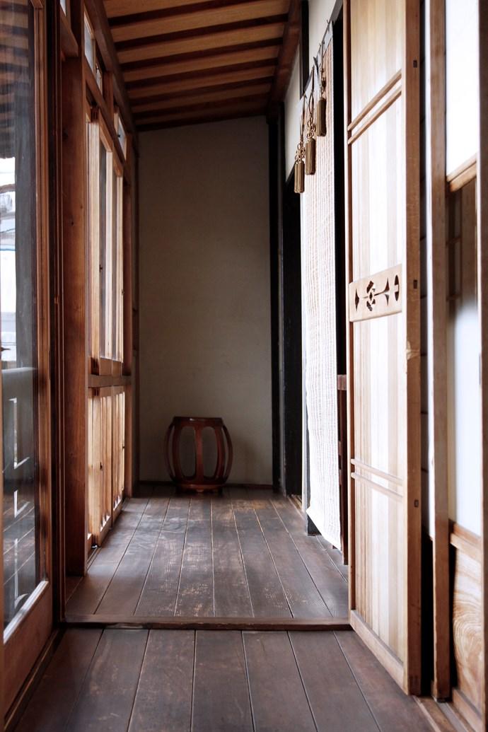 Interiors at the merchant's mansion at Iori Machiya Stay.