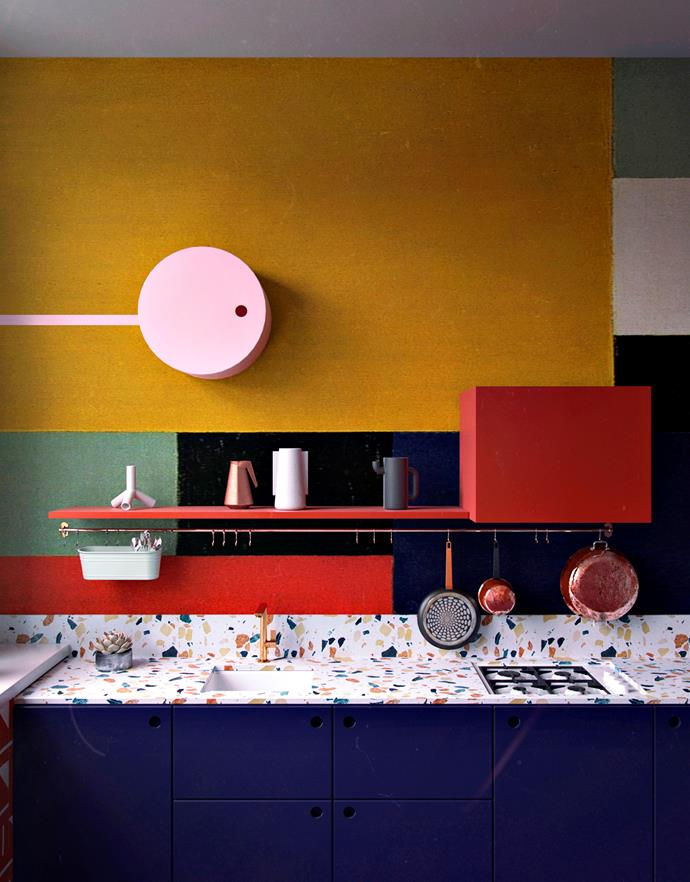 "This [colourful kitchen](https://www.homestolove.com.au/colourful-kitchens-gallery-3709|target=""_blank"") sparks SO much joy! *Design:* Daria Zinovatnaya"