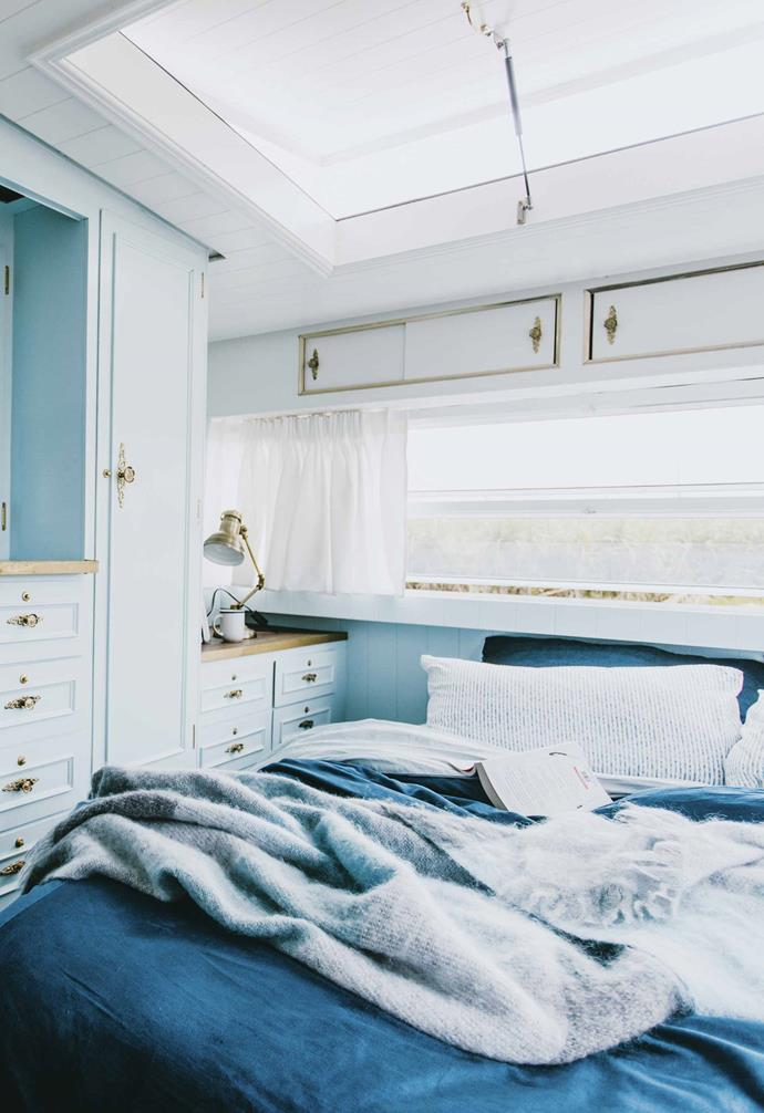 "**Bedroom** The original cabinetry was reinvigorated with [White Knight](https://www.whiteknightpaints.com.au/|target=""_blank""