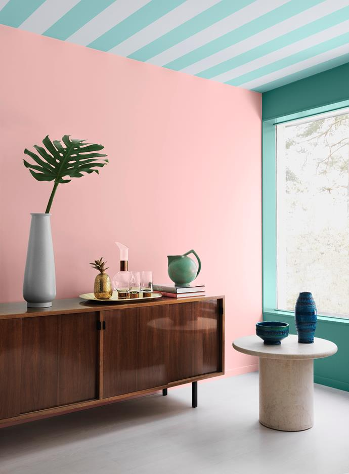Candy coloured hues set the mood in this cheery space. Photo courtesy of Alcro Sweden / alcro.se