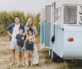 Meet Dolly: Michael and Carlene's newest caravan renovation