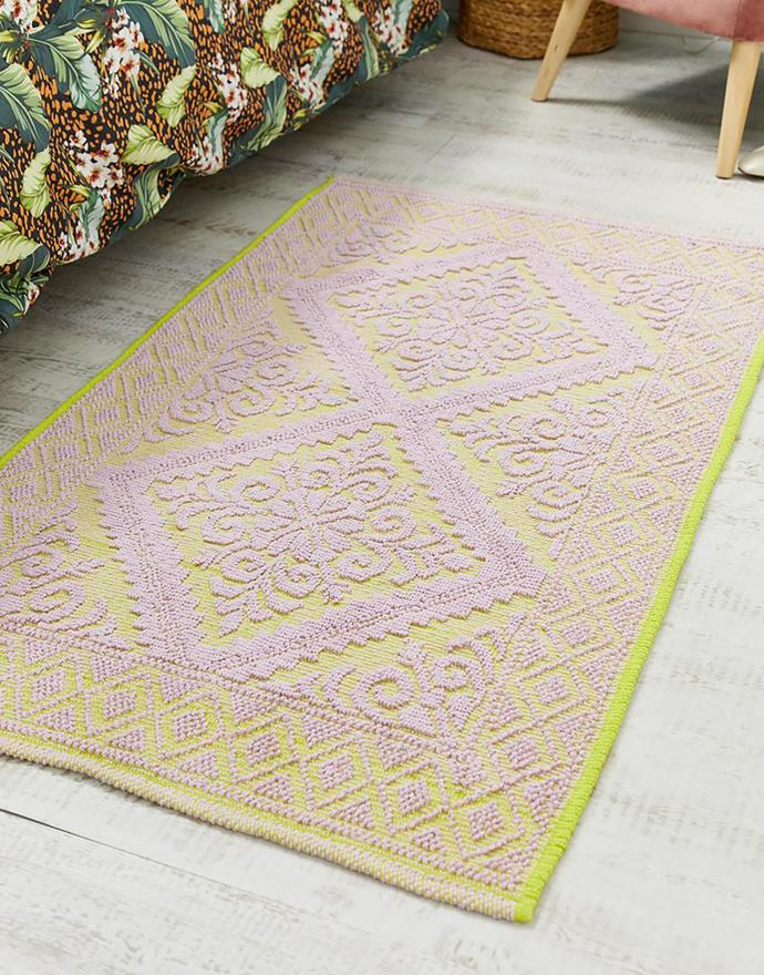 """Knotted rug, $64, [ASOS](https://fave.co/2RCkMo3