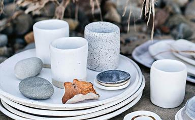 Handmade ceramic platters inspired by the sea