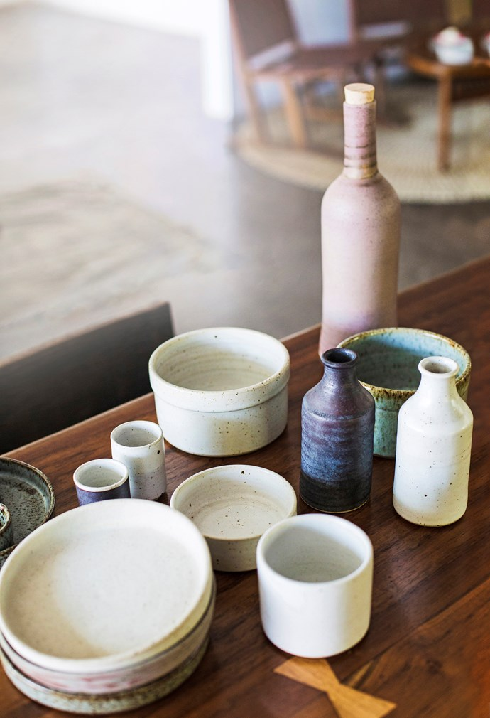 """Cisco is a holistic health coach, a surfer, a raw food chef and she completed yoga teacher training a few years ago. Her love of learning fuelled her desire to create ceramics, which she says have """"a comfort beyond the senses that permeates from hand to soul""""."""