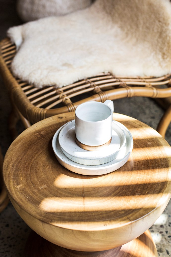 Most of the furniture at The Slow is made from recycled Javanese teak, bamboo, rattan and seagrass.