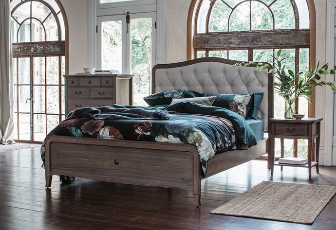 "The 2019 take on the classic bedroom style features unexpected bursts of colour that maintain balance and symmetry. Elegant, timeless and meticulously crafted, [Snooze's Elise bed frame](https://www.snooze.com.au/products/elise-bed-frame?variant=7279350808609|target=""_blank""